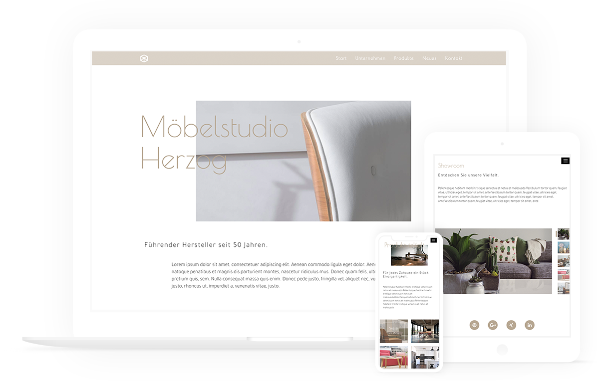 mockup responsive designs, Gestaltung für alle devices